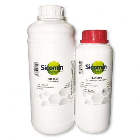 Résine époxy SR 5550 1,16 Kg + Durcisseur très lent SD 5502 0,34 Kg