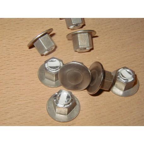 Box of 10 inserts M6 Inox diameter 6-length 8 mm