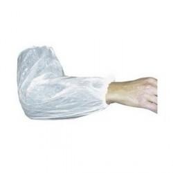 Manchettes polyethylène blanc, taille unique