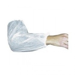 Polyethylene cuff white, one size