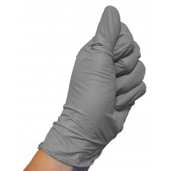 Grey nitrile gloves (box of 50)