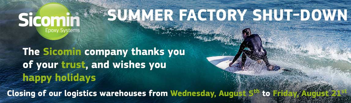 SUMMER FACTORY SHUT DOWN Closing of our logistics warehouses from Wednesday, August 5th to Friday, August 21st