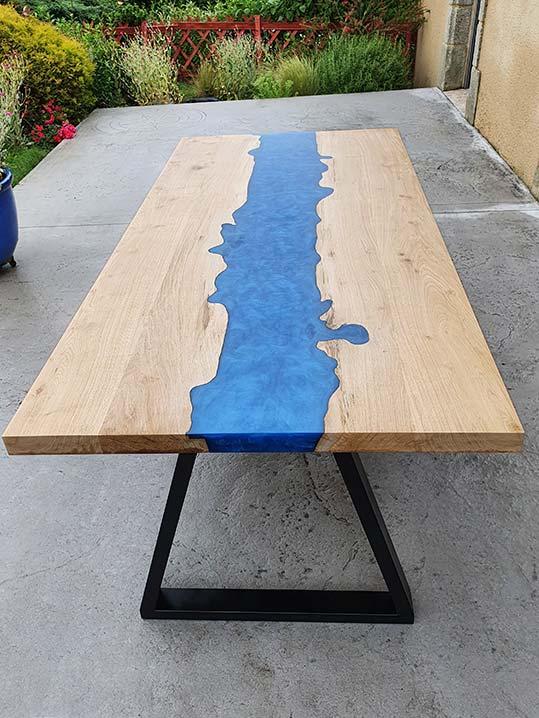 Table rivière bleu