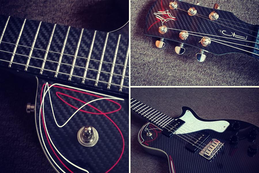 Guitares réalisées en fibres de carbone